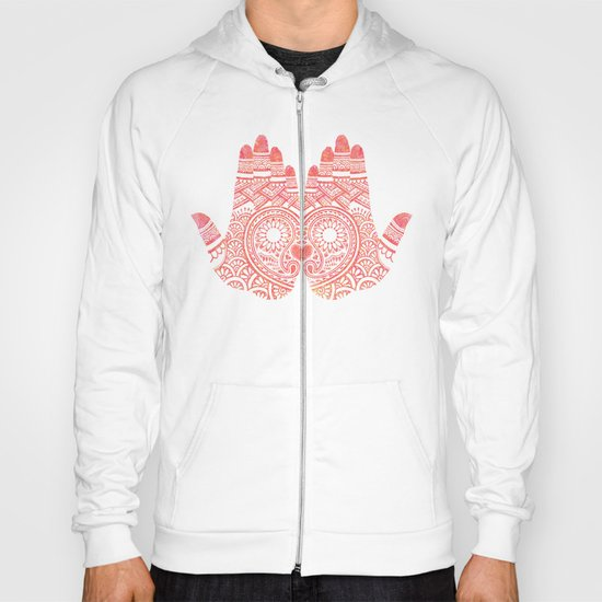 Red Mehndi Hoody