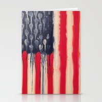 america Stationery Cards featuring America  by Matt Pecson