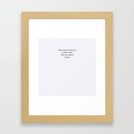 Karmic response Framed Art Print