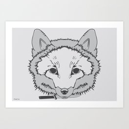 Pirate Fox Art Print