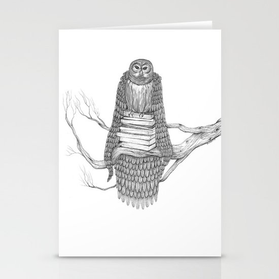 The Owl- Feathered Stationery Cards