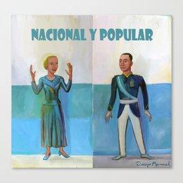 Evita y Juan Perón. Nacional y popular. Canvas Print
