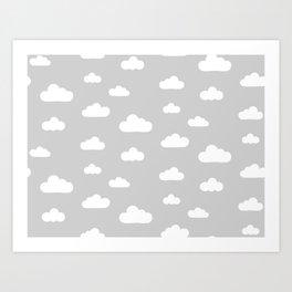 Nuvens Art Print