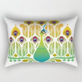 Java Green Peacock [Pavo Muticus] Rectangular Pillow