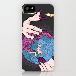 Looking Through Magic Crystal iPhone Case