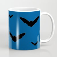 bats Mugs featuring Bats by Jessica Slater Design & Illustration