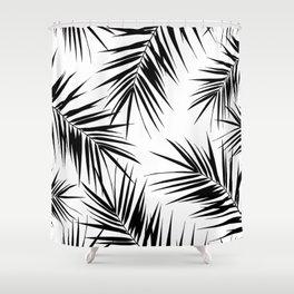 Palm Leaves Cali Finesse #3 #BlackWhite #tropical #decor #art #society6 Shower Curtain