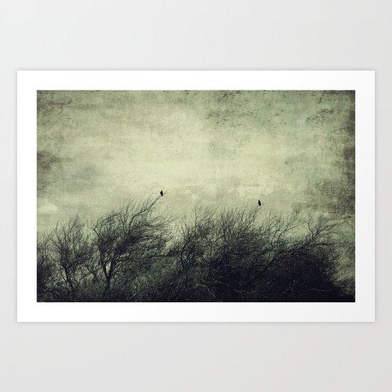 Talk to me ~ Birds silhouettes Art Print