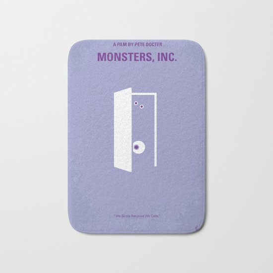 No161 My Monster Inc minimal movie poster Bath Mat