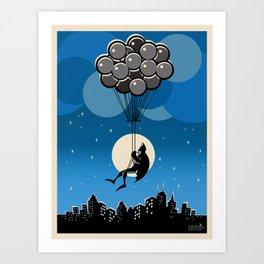 Balloon Bat Art Print