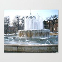 Frozen Fountain  Canvas Print