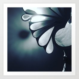 blossoming mind in blue tone Art Print
