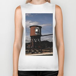 1880 Train Watertower Black Hills Abstract Biker Tank
