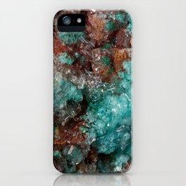 Dark Rust & Teal Quartz iPhone Case