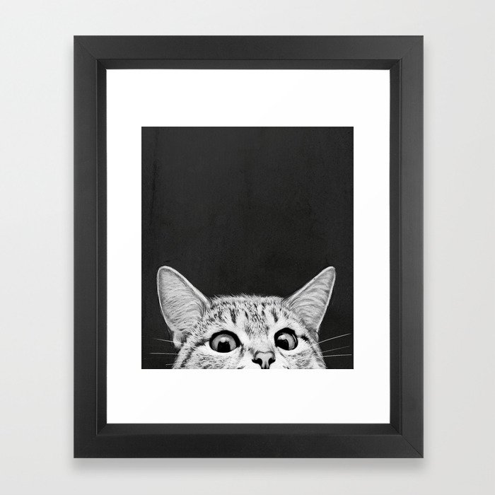 You asleep yet? Framed Art Print