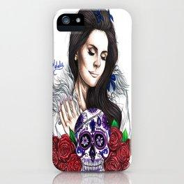 Lady Of Roses iPhone Case