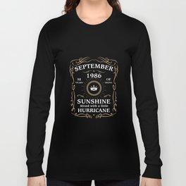 September 1986 Sunshine mixed Hurricane Long Sleeve T-shirt