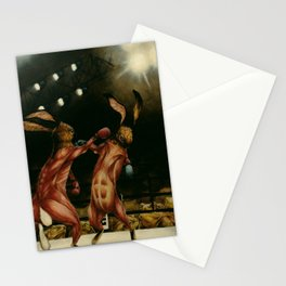 Boxing Rabbits Stationery Cards