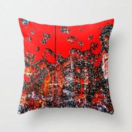 Red Door Rusting Black Throw Pillow
