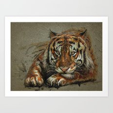 Tiger background Art Print