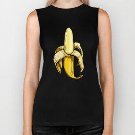 yellow graphic banana Biker Tank