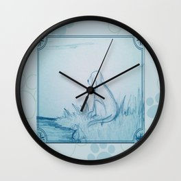 Lonely Dog Wall Clock