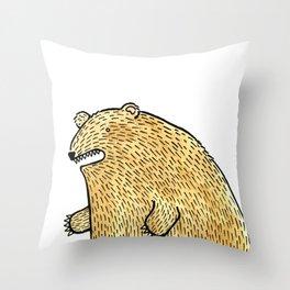 humble bear Throw Pillow