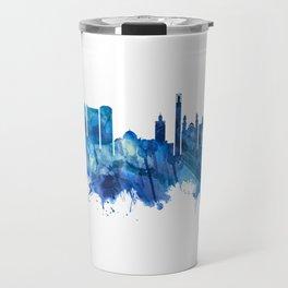 Algiers Algeria Skyline Blue Travel Mug
