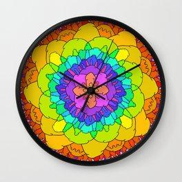 The Dick Mandala in Full color Wall Clock