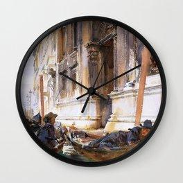 Gondoliers Siesta - Digital Remastered Edition Wall Clock