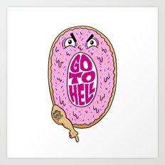 Mad Donut Society Art Print
