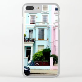 Pastel houses Clear iPhone Case