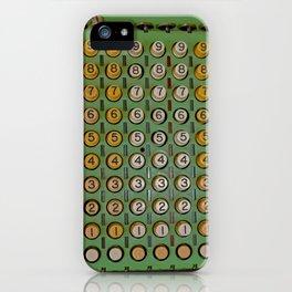 Vintage Numerical Key Punch iPhone Case