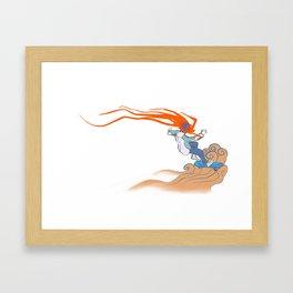 Prometheus Descending Framed Art Print