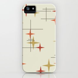 Mid Century Modern Stars iPhone Case