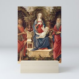 Madonna with Saints by Sandro Botticelli, 1485 Mini Art Print