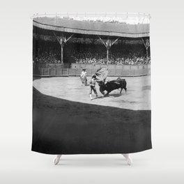 Torero black white Shower Curtain