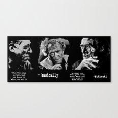 BUKOWSKI collage - The FREE SOUL quote Canvas Print