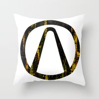 borderlands Throw Pillows featuring Borderlands by Bradley Bailey