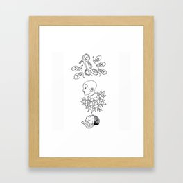 Science Fiction Character Illustration Framed Art Print