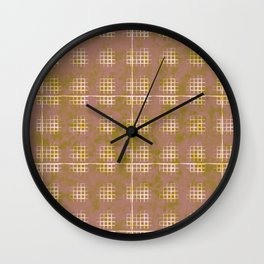 Squares in Olde rose and green Wall Clock