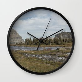 Mt Reynolds and Heavy Runner from Logan Pass Wall Clock