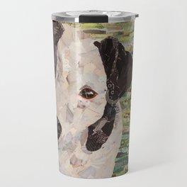 Lily on Green Background Travel Mug