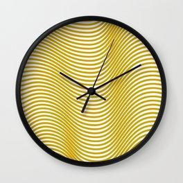 Golden Waves Wall Clock