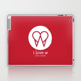 I Love W Laptop & iPad Skin