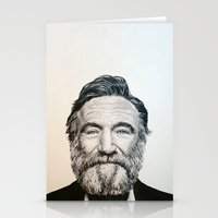 robin williams Stationery Cards featuring Robin Williams by feralsister