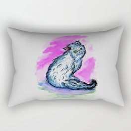 Persian cat sketch Rectangular Pillow
