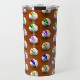 Marbles on Wood Pattern Travel Mug