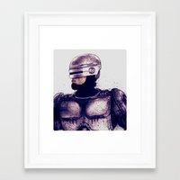 robocop Framed Art Prints featuring ROBOCOP by Jef2D