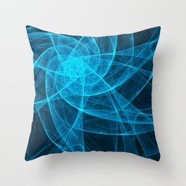 Tulles Star Computer Art in Blue Throw Pillow